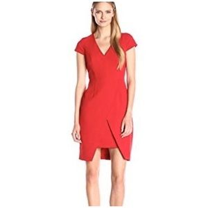 New Adrianna Papell Scissor Step Hem Dress